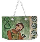 Eight Of Pentacles Illustrated Weekender Tote Bag