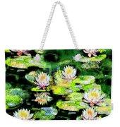 Eight #waterlilies Weekender Tote Bag