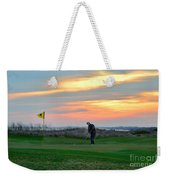 Eighteenth Green At Sunset Weekender Tote Bag