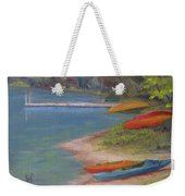 Eighth Lake Canoes Weekender Tote Bag