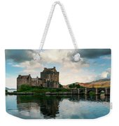 Eilean Donan Castle On A Cloudy Day Weekender Tote Bag