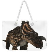Einiosaurus On White Weekender Tote Bag