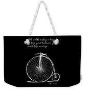 Einstein's Bicycle Quote - White Weekender Tote Bag