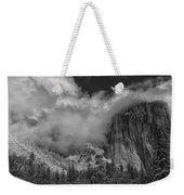 El Capitan And The Stormy Clouds Weekender Tote Bag