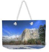 El Capitan Meadow Winter Yosemite National Park II Weekender Tote Bag