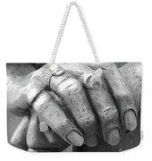 Elderly Hands Weekender Tote Bag