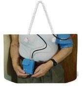 Elderly Man Wearing A Blood Pressure Weekender Tote Bag