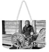 Elderly Woman Spinning Wool, C.1920s Weekender Tote Bag
