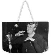 Eleanor Roosevelt At Hearing Weekender Tote Bag