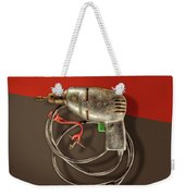 Electric Drill Motor, Green Trigger On Colored Paper Weekender Tote Bag