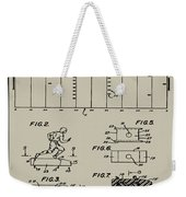 Electric Football Patent 1955 Aged Gray Weekender Tote Bag