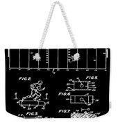 Electric Football Patent 1955 Black Weekender Tote Bag