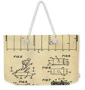 Electric Football Patent 1955 Sepia Weekender Tote Bag