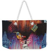 Electric Forest-people Building Houses In The Trees Weekender Tote Bag
