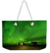 Electric Green Skies Weekender Tote Bag