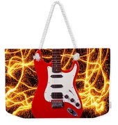 Electric Guitar With Sparks Weekender Tote Bag