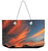 Electric Hawaiian Sunset Big Island Hawaii Weekender Tote Bag