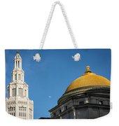 Electric Moon Gold  Weekender Tote Bag