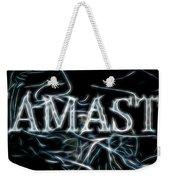 Electric Namaste Weekender Tote Bag