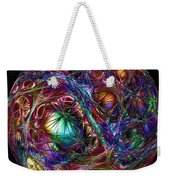 Electric Neon Abstract Weekender Tote Bag