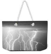 Electric Skies In Black And White Weekender Tote Bag