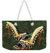 Electric Slide In Leopard Weekender Tote Bag