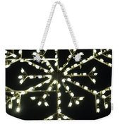 Electric Snowflake Weekender Tote Bag