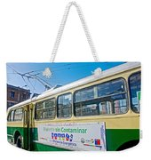 Electric Trolley Took Us To The Port In Valparaiso-chile  Weekender Tote Bag
