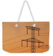 Electricity Pylon At Sunset  Weekender Tote Bag
