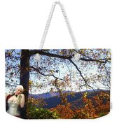 Elegant Fall Weekender Tote Bag