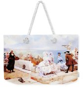 Elegant Figures Watching The Regatta Weekender Tote Bag