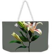 Elegant Lily And Buds Weekender Tote Bag
