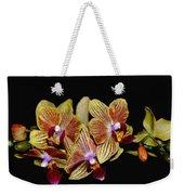 Elegant Orchid On Black Weekender Tote Bag