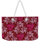 Elegant Red Floral Design Weekender Tote Bag
