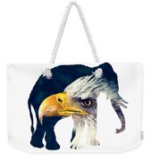 Elephant And Eagle Weekender Tote Bag