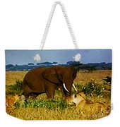 Elephant And The Lions Weekender Tote Bag