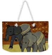 Elephant Calves Weekender Tote Bag