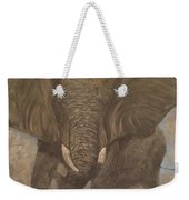 Elephant Charging Weekender Tote Bag