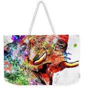 Elephant Colored Grunge Weekender Tote Bag