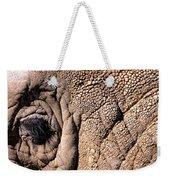 Elephant Eye Closeup  Weekender Tote Bag