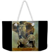 Elephant Familly Weekender Tote Bag