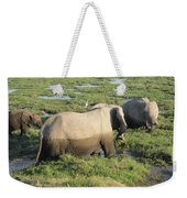 Elephant Family Weekender Tote Bag