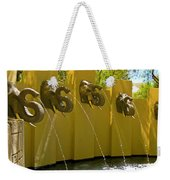 Elephant Fountain Two Weekender Tote Bag