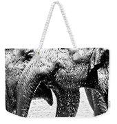 Elephant Gossip Weekender Tote Bag