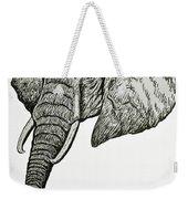 Elephant Head Weekender Tote Bag