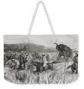 Elephant Hunters In The 19th Century Weekender Tote Bag