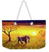 Elephant In Purple Twilight Weekender Tote Bag