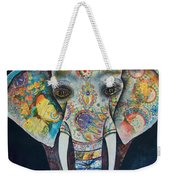 Elephant Mixed Media 2 Weekender Tote Bag