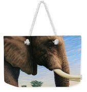 Elephant On Safari Weekender Tote Bag