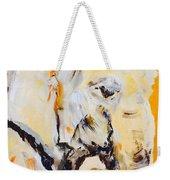 Elephant Orange Weekender Tote Bag
